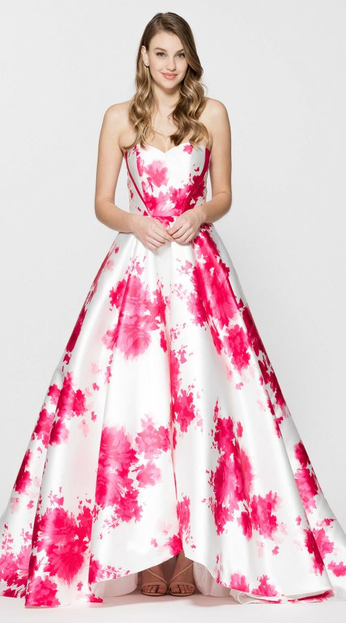 Sweetheart Floral A Line Ball Gown