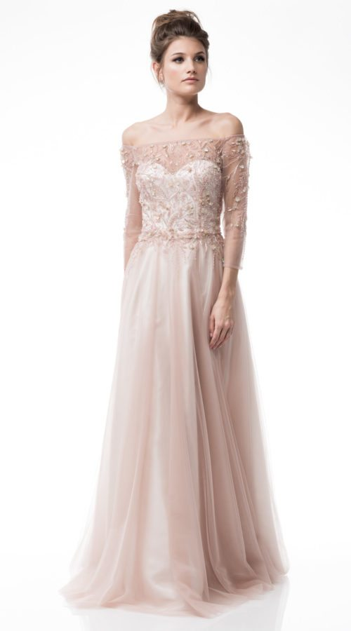 Pink Mother Of The Bride Sleeve Dress