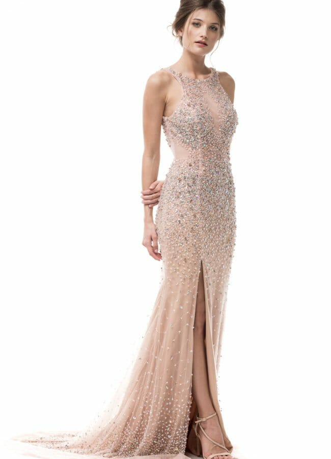 Shangri La Dresses Sequin Prom Dress Champagne