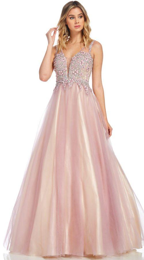 A Line Sequin Formal Dress Lavender