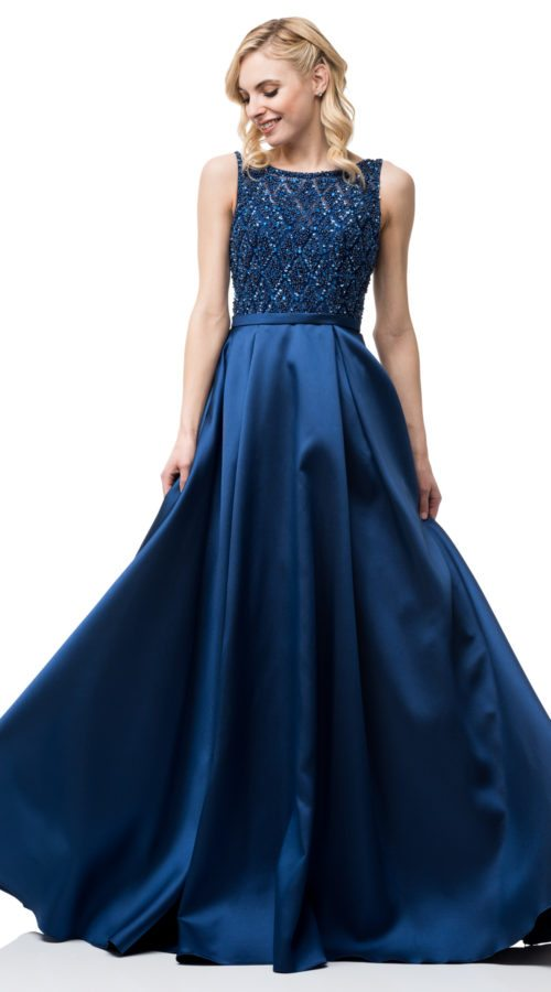 Royal Blue Prom Dress Sequins