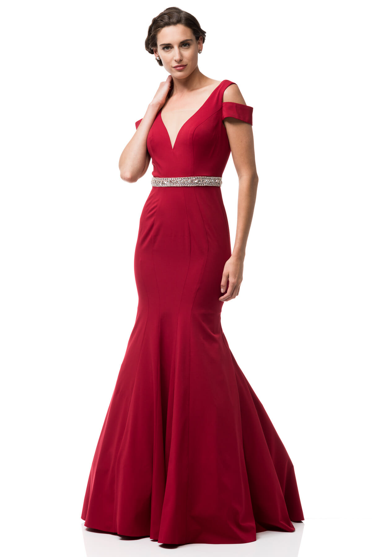 Black and Red Mermaid Prom Dress
