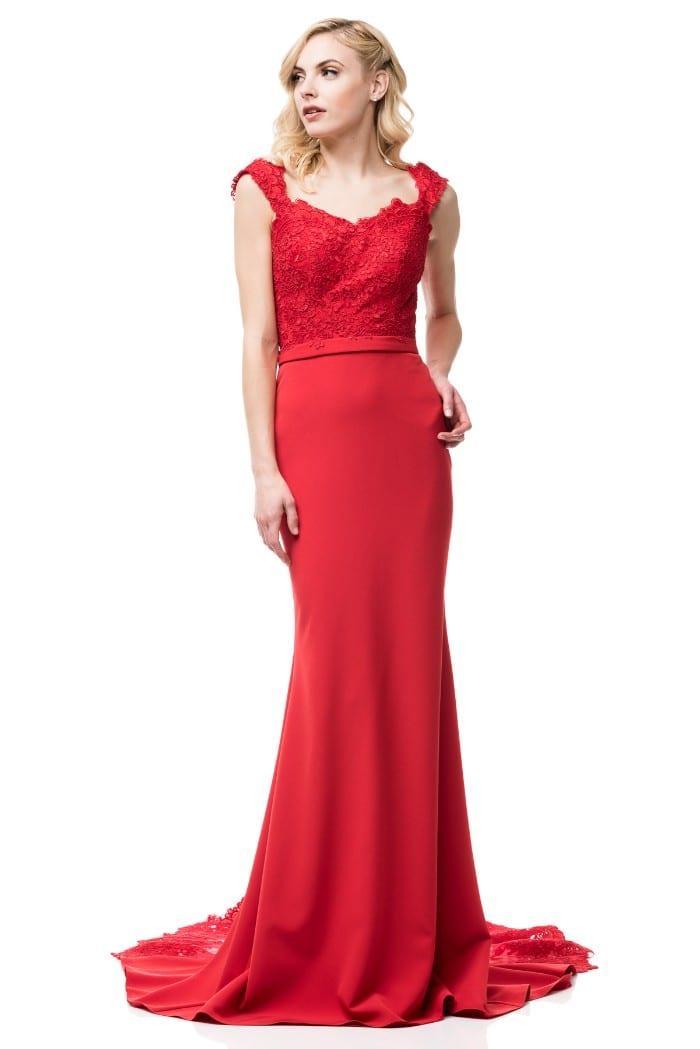 SWEETHEART NECK, OFF SHOULDER, RED PROM DRESS | Shangri-La Dresses ...