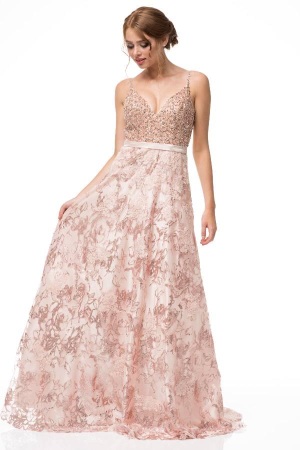 Blush Gold Prom Dress Shangri La Dresses In San Antonio Tx