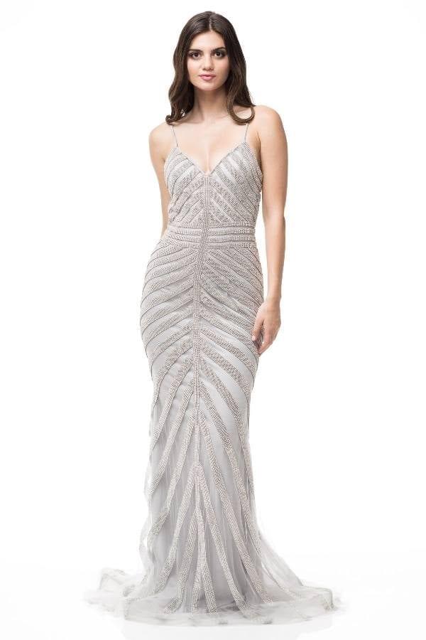 9c69c76981 Sheath Silver Sequenced Red Carpet Dress